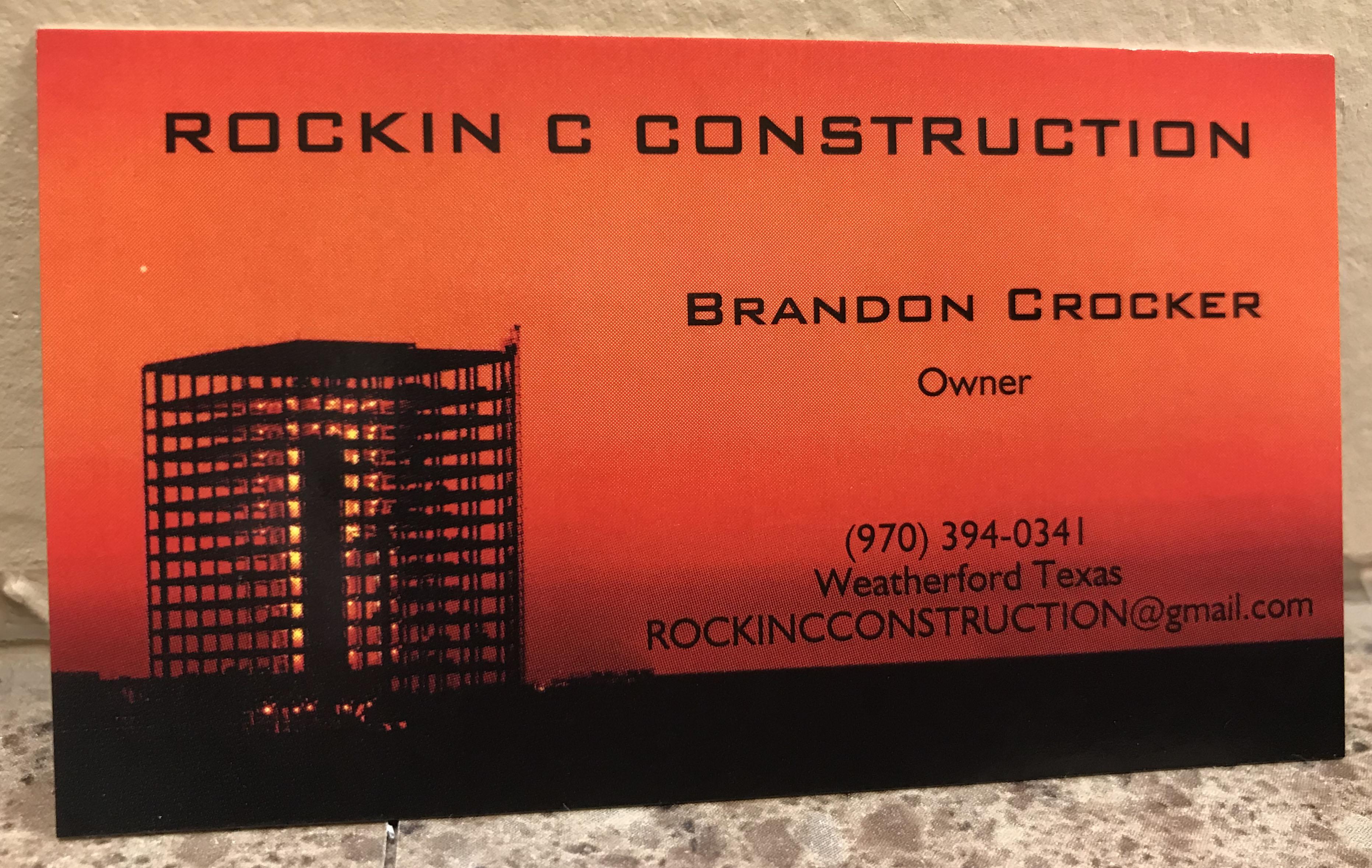 rockin c construction