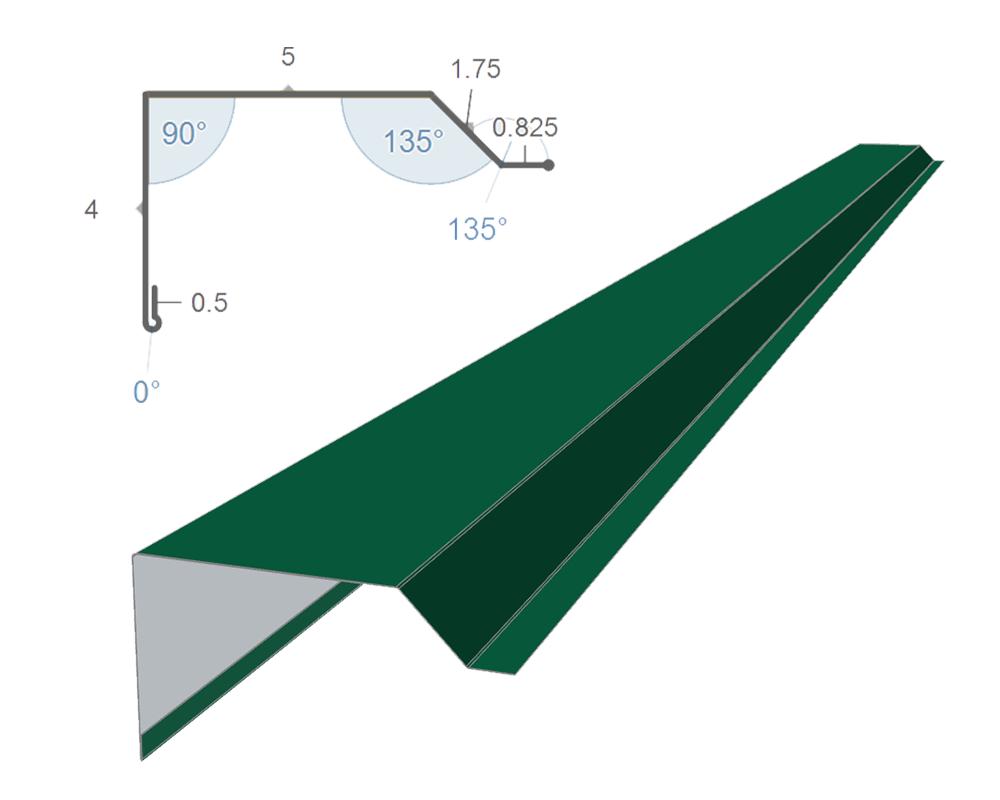 residential rake trim profile